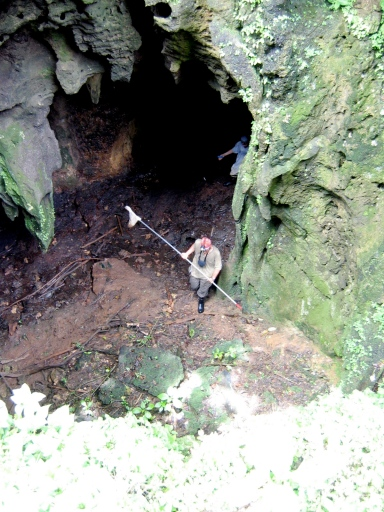 This 2004 picture of me standing at the bottom of the pit shows some sense of scale.